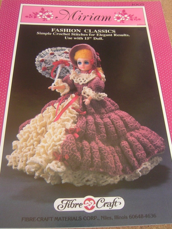 Miriam crochet doll pattern Fibre Craft