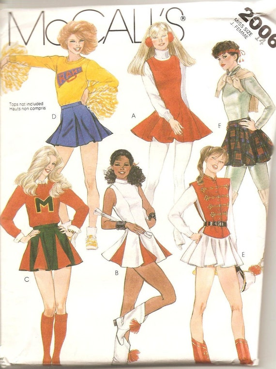 Cheerleader outfit Pattern McCalls Size 14