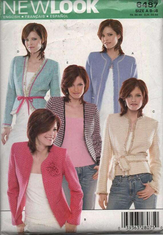Love That Jacket Pattern Sizes 8-18 New Look  Pattern 6487