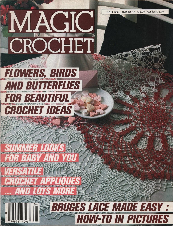 Magic Crochet Magazine April 1987 Crochet Patterns