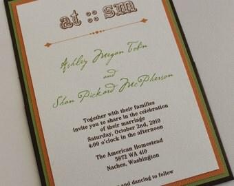 A7 Pocket Wedding Invitation Ensemble  Your Colors & Theme