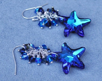 Sparkling Starfish Earrings - Custom Requests Welcome