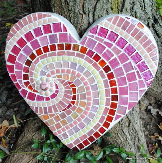 Sweet Sweet Heart Mosaic Stepping Stone