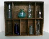Primitive Divided Wood Box / Display Shelf