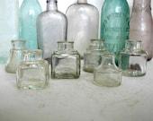 6 Vintage Ink Bottles Instant Collection