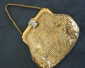 Gold Mesh Evening Bag / Whiting Davis Gold Purse