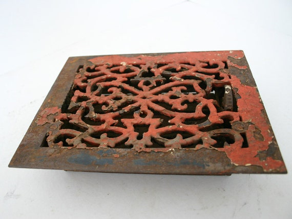 Metal Heating Vent Grate Chippy  Paint