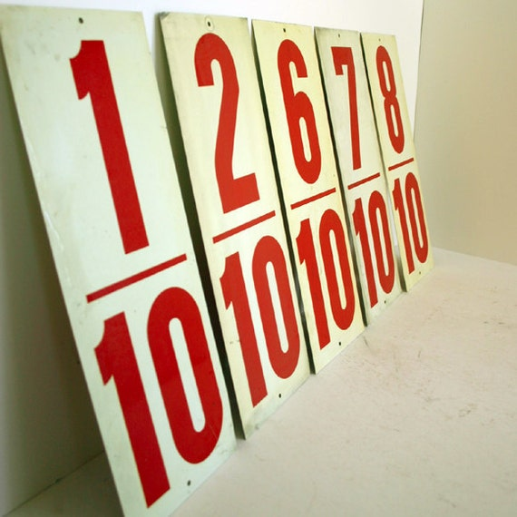 Gas Station Fraction Numbers / Industrial Decor Numbers
