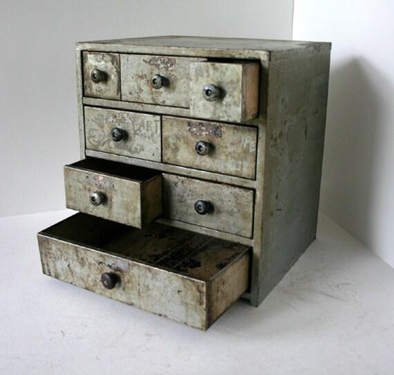 Vintage Shop Cabinet / IndustrialParts Drawers