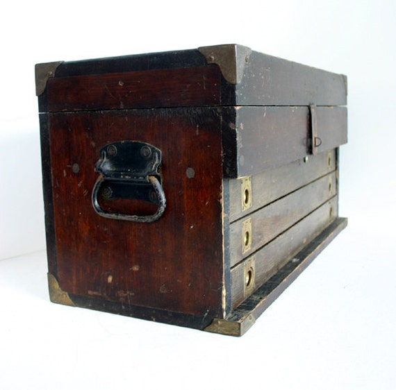 Vintage Tool Box with Drawers / Tool Chest / Industrial Decor