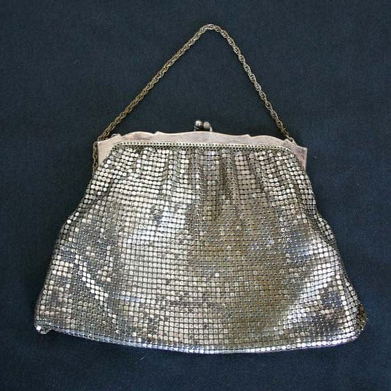 Silver Mesh Evening Bag / Whiting Davis Silver Purse
