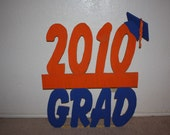 Graduation personalized yard sign complete with cap and tassel Yard Sign