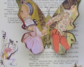 Collage Butterfly Wall Art - Babes in the Wood - Best Friends