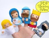 Digital Pattern: Nativity Finger Puppets