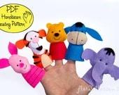 Digital Pattern: Hunny Bear and Friends Felt Finger Puppets