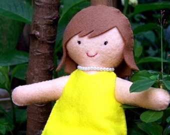 Digital Pattern: Annabelle the Girl in Yellow Dress