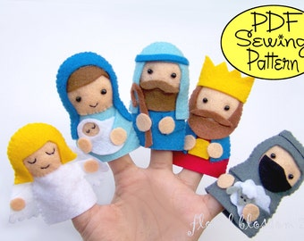 Digital Pattern: Nativity Finger Puppets