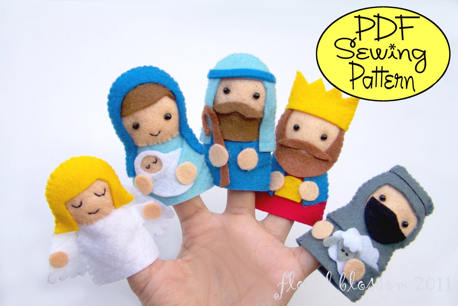 Digital Pattern: Nativity Finger Puppets by FloralBlossom on Etsy
