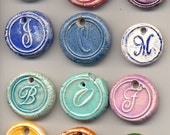 CLEARANCE Set of 5 Ceramic Initial / Alphabet Charms