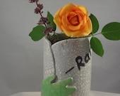 Zombie Hand Vase - OOAK Handmade Ceramic Vase with Cartoon Zombie Hand