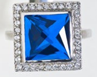 Blue Quartz Statement Ring & Cocktail Ring