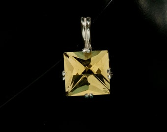 Golden Quartz Lighthouse Custom Cut Pendant