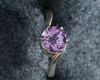 Amethyst Rose Petal 1.78ct  Unique Color Engagement Ring
