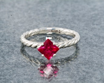 Ruby Unique Engagement Ring & July Birthstone