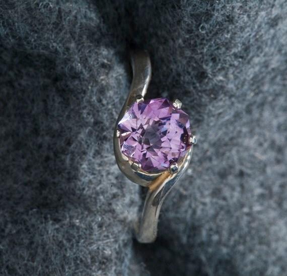 Amethyst Rose Petal 1.78ct  Unique Color Engagement Ring