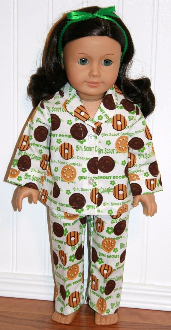 AMERICAN GIRL DOLL Clothes Scout Cookies Pajamas fits 18inch Doll Clothes