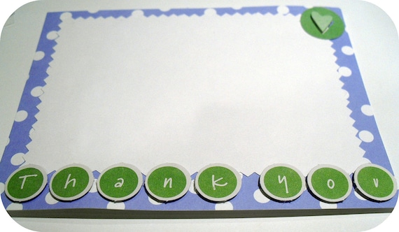 Thank You Flat Notecard - A2 Light Purple and Green