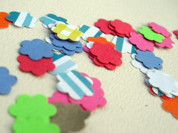 PIF -1cm Flower Confetti Die Cuts - Recycled