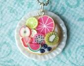 Fruit tart pendant