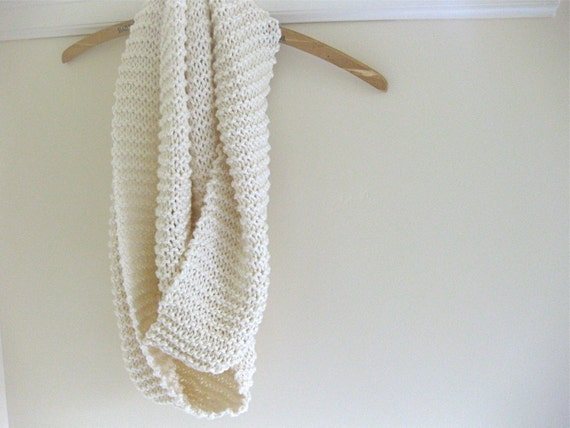 Cotton Infinity Scarf in Cream