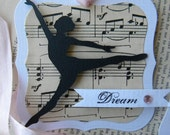 Dream Tags (dancer silhouette) ... set of 6