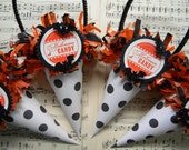Halloween Tussie Mussie / cones ... set of 4