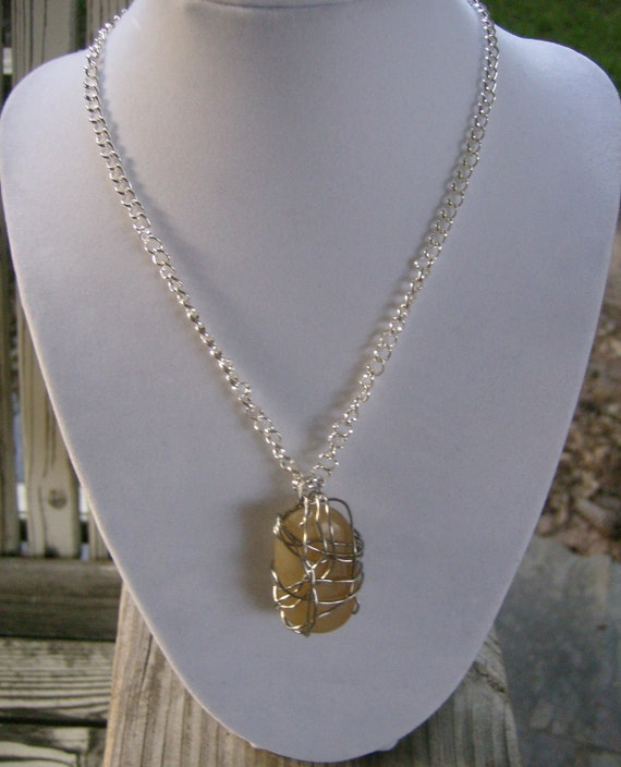 Natural Stone Wire Wrapped Necklace