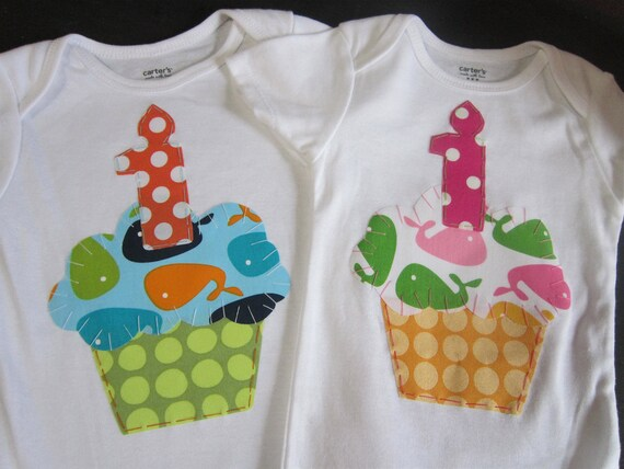 Boy Girl Twins 1st Birthday onesies, Twin Girls birthday, Boy Twins birthday.