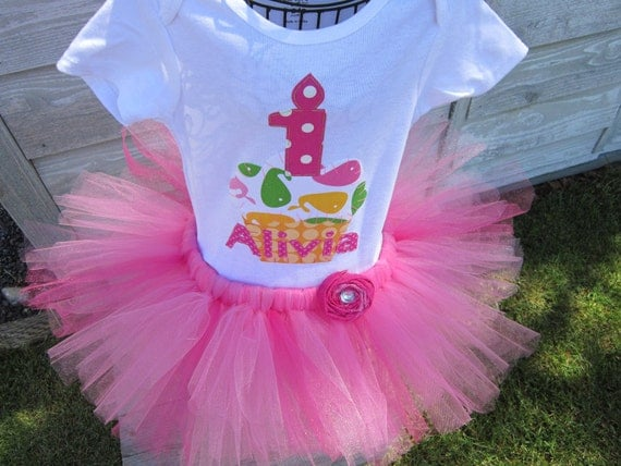 Birthday girl whale cupcake onesie, zoology birthday, customized onesie and tutu