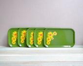 Vintage Flower Tray Set
