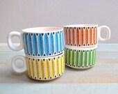 Vintage Ceramic Mug Set