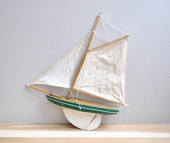 Vintage Model Sailboat