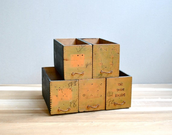 Salvaged Storage Boxes