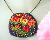 Reserved for Alynn - Rose is a Rose Embroidered Necklace