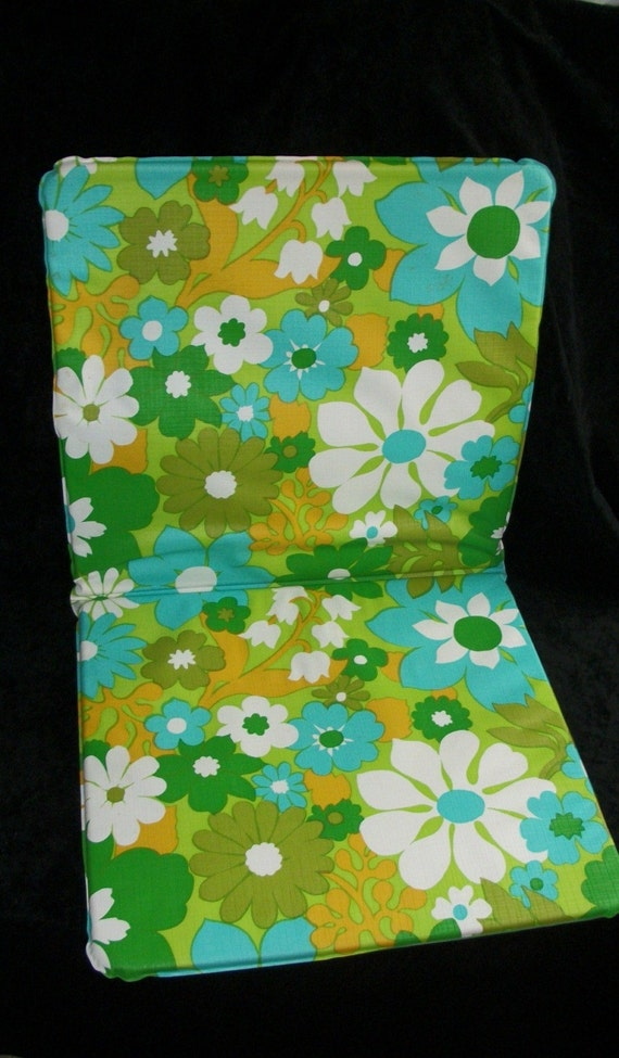 Vintage Floral Lawn Chair Cushion By Iprefervintage On Etsy