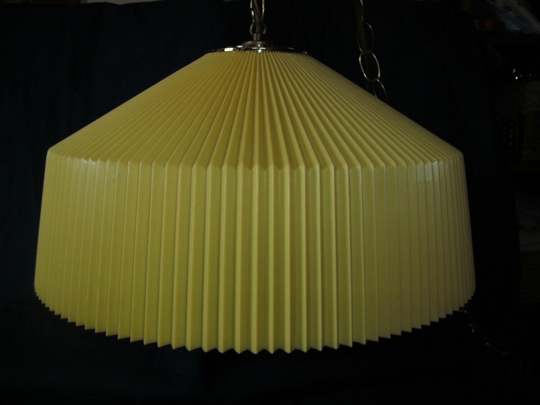 Yellow Swag Light Mid Century Modern