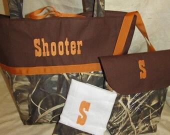 Max 4 camo diaper bag set  max 4hd camo camouflage  burnt orange diaper bag wipes case and burp cloth