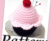 How to make Cupcake pincushion Crochet PDF pattern
