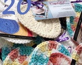 WHOLESALE Crocheted facial scrubbies LOT of 20