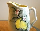 Lovely Lemon Hand Painted Pitcher